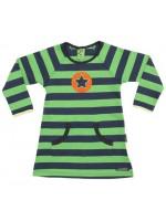 Villervalla jurk streep navy/groen
