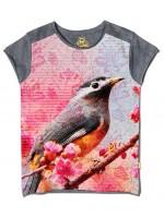 Stones & Bones t-shirt blossom grijs