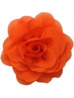 Oranje voile roos van het merk Waaaw. De roos kan op de Waaaw kleding geklikt worden met drukkertjes.