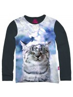 tones & Bones longsleeve Cat Snow indigo
