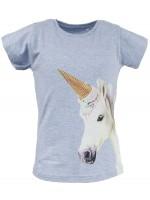Stones & Bones t-shirt Unicorn melange blue