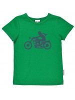 Groen t-shirt met motor van het Belgische merk Baba-Babywear.