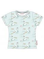T-shirt met zwanen van het Belgische merk Baba-Babywear. De kleding van Baba-Babywear is gemaakt van biologisch katoen.