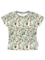 T-shirt met vogels van het Belgische merk Baba-Babywear. De kleding van Baba-Babywear is gemaakt van biologisch katoen.