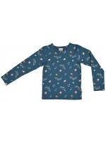 Baba-Babywear longsleeve retro flowers blue