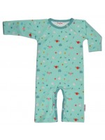 Baba-Babywear jumpsuit zwanen/bloemen