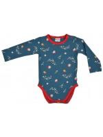Baba-Babywear romper retro flowers blue