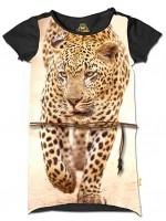 Stones & Bones jurk luipaard grafiet