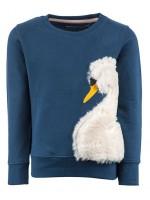 Stones & Bones sweater furry swan midnight