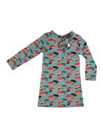 Baba-Babywear knot dress umbrella grey