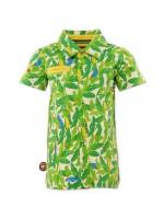 Coole blouse met blaadjes van het Nederlandse merk 4FunkyFlavours. De blouse is gemaakt van t-shirtstof en heeft korte mouwen,  De blouse is gemaakt van Oekotex gecertificeerd katoen.