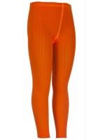 Oranje legging met ingeweven kabel van het Nederlandse merk 4FunkyFlavours.