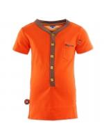 Gaaf oranje t-shirt met leuke details van het Nederlandse merk 4FunkyFlavours.