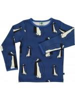 Smafolk longsleeve pinguïns blauw