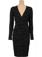 Zwarte jurk met kleine bloemetjes van het toffe merk King Louie. De jurk heeft een band onder de borst en zakken.   De jurk is gemaakt van 95% viscose en 5% elastane.