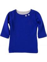 Waaaw shirt kobalt 3/4 mouw