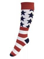 Melton sokken rood/wit