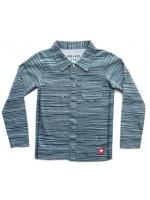 Kik-Kid blouse print stripe d. grey