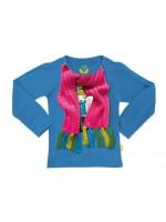 Gave blauwe longsleeve met sjaal op het shirt van het hippe Belgische merk Stones & Bones.
