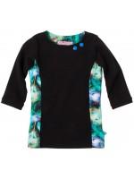 Waaaw shirt 3/4 mouw Zwart/Pauw