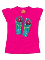 Stones & Bones t-shirt Flipflops fuchsia