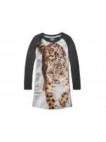 Stones & Bones jurk Snowleopard antracit