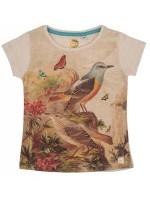 Stones & Bones t-shirt Birds beige