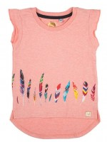 Stones & Bones t-shirt Feathers pink