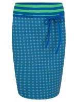 Halsoverkop rok stippen blauw