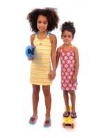 Br@nd for Girls Summer Dress Cross Yellow Stripe