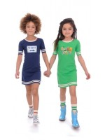 Br@nd for Girls dress stripe green stamps