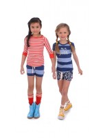Br@nd for Girls 3/4 t-shirt contrast red mellee stripe