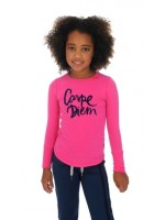 Br@nd for Girls Longsleeve transfer Pink Carpe Diem