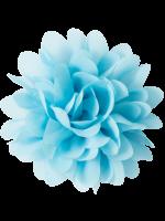Waaaw voile bloem lichtblauw