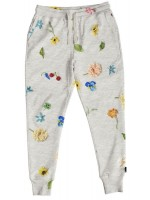 Snurk sweat pants knitted flowers dames