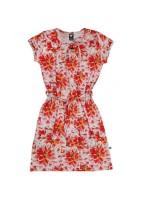 Toffe jurk met korte mouwen en dahlia's van het Nederlandse merk Wild.