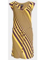 Ato Berlin jurk streep geel