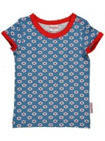 Baba-Babywear t-shirt bloemetjes blauw