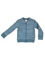 Baba-Babywear vest blauw melange