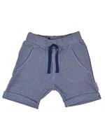 Blauw melange short van het Belgische merk Baba-Babywear. De kleding van Baba-Babywear is gemaakt van biologisch katoen.