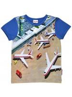 T-shirt met vliegtuigprint van het Belgische merk Baba-Babywear.