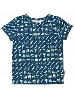 T-shirt met gereedschap van het Belgische merk Baba-Babywear. De kleding van Baba-Babywear is gemaakt van biologisch katoen.