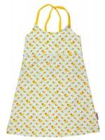 Zomerjurk met eendjes van het Belgische merk Baba-Babywear.