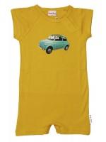 Baba-Babywear jumpsuit zomer geel Fiat 500