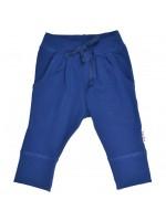 Hippe donkerblauwe broek van zachte sweatstof van het Belgische merk Baba-Babywear.  De kleding van Baba-Babywear is gemaakt van biologisch katoen.