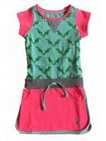 Birds by D-rak jurk all-over mint/pink