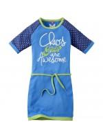 Chaos & Order jurk Dewy cobalt