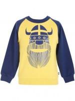 Danefae trui Erik de viking navy/okergeel