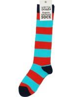 Te gekke Pipi Langkous sokken met rode en turquoise strepen van het Zweedse merk Duns Sweden.