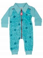 Kik-Kid jumpsuit velvet sterren l. blue
